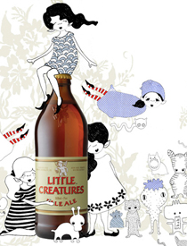 Little Creatures Pale Ale Illustration/Postcard design