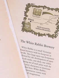 White Rabbit Brewery brochure