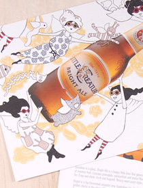 Bright Ale Illustration / Postcard design