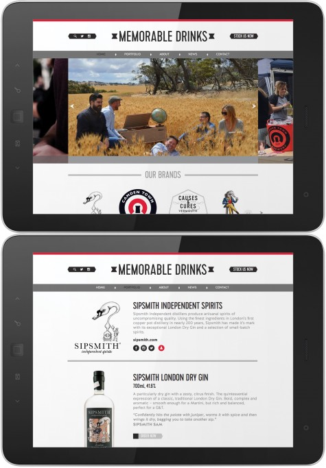 Memorable Drinks branding and website
