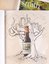 White Rabbit Dark Ale Illustration