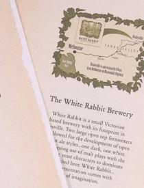 White Rabbit Brewery brochure