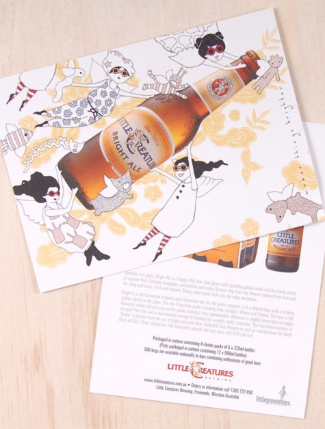 Bright Ale Illustration / Postcard design