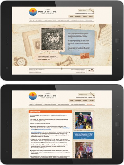 Tales of Times Past – Website Design