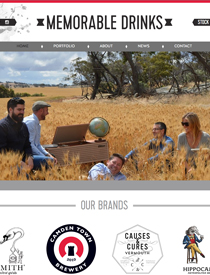 Memorable Drinks branding and website